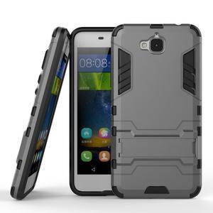 Outdoor odolný obal na mobil Huawei Y6 Pro - šedý - 2