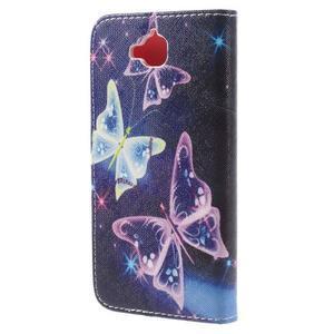 Emotive peněženkové pouzdro na mobil Huawei Y6 Pro - kouzelní motýlci - 2