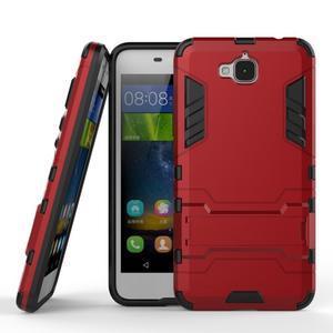 Outdoor odolný obal na mobil Huawei Y6 Pro - červený - 2