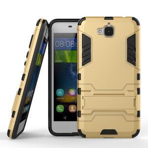 Outdoor odolný obal na mobil Huawei Y6 Pro - zlatý - 2