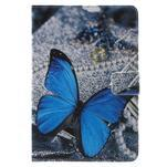 Stylové pouzdro na iPad mini 4 - modrý motýl - 2/7