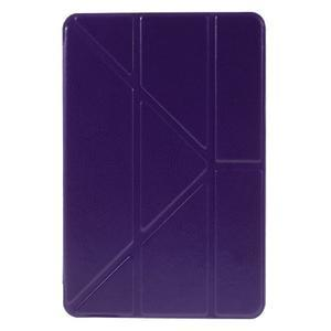 Origami polhovatelné pouzdro na iPad mini 4 - fialové - 2