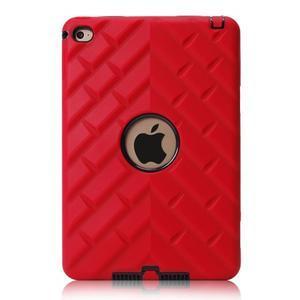 Vysoce odolný silikónový obal pre tablet iPad mini 4 - čierne/červený - 2