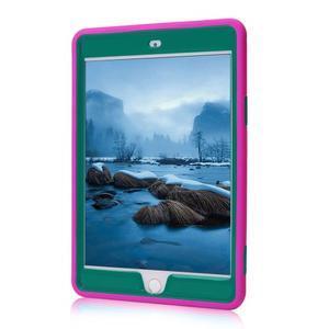 Vysoce odolný silikonový obal na tablet iPad mini 4 - rose/zelený - 2