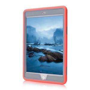 Vysoce odolný silikónový obal pre tablet iPad mini 4 - oranžový/sivý - 2