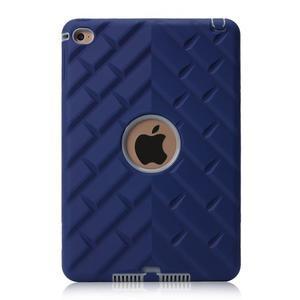 Vysoce odolný silikónový obal pre tablet iPad mini 4 - tmavomodrý/sivý - 2