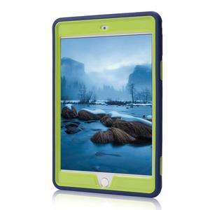 Vysoce odolný silikonový obal na tablet iPad mini 4 - tmavěmodrý/zelený - 2