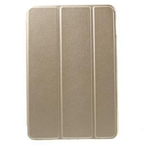 Trifold trojpolohové pouzdro na tablet iPad mini 4 - zlaté - 2