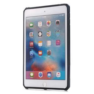 Outdoor dvoudílný gélový/plastový obal pre iPad mini 4 - čierne - 2