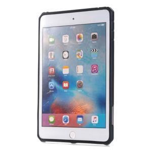 Outdoor dvoudílný gelový/plastový obal na iPad mini 4 - stříbrný - 2
