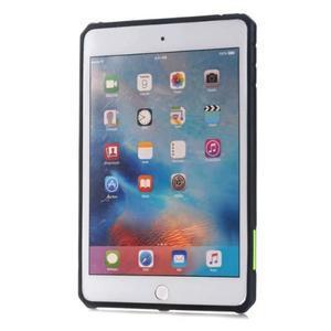 Outdoor dvoudílný gélový/plastový obal pre iPad mini 4 - zelený - 2