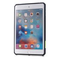 Outdoor dvoudílný gélový/plastový obal pre iPad mini 4 - zelený - 2/5