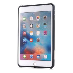Outdoor dvoudílný gélový/plastový obal pre iPad mini 4 - modrosivý - 2