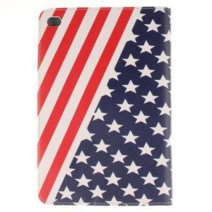 Standy puzdro pre tablet iPad mini 4 - US vlajka - 2