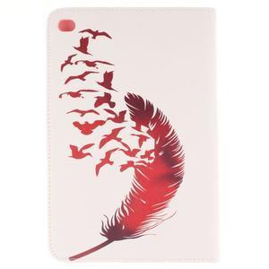 Standy puzdro pre tablet iPad mini 4 - vtačie pierko - 2