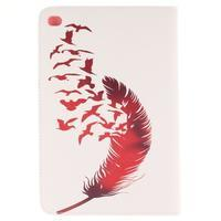 Standy pouzdro na tablet iPad mini 4 - ptačí peříčko - 2/7