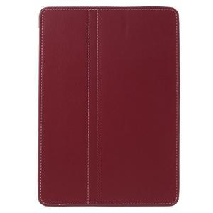 Clothy PU kožené puzdro pre iPad Pro 9.7 - červené - 2