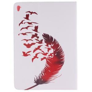 Knížkové pouzdro na tablet iPad Pro 9.7 - ptačí peříčko - 2