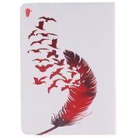 Knížkové pouzdro na tablet iPad Pro 9.7 - ptačí peříčko - 2/7