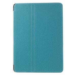 Clothy PU kožené puzdro pre iPad Pro 9.7 - svetlomodré - 2
