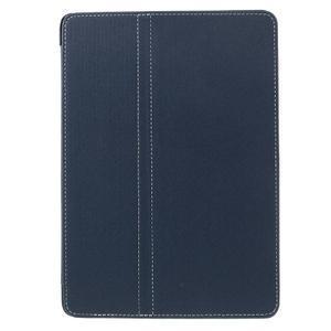 Clothy PU kožené puzdro pre iPad Pro 9.7 - tmavomodré - 2