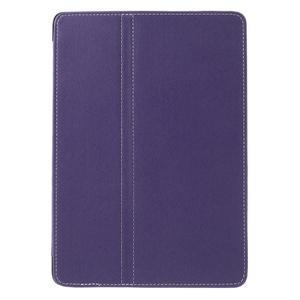 Clothy PU kožené puzdro pre iPad Pro 9.7 - fialové - 2