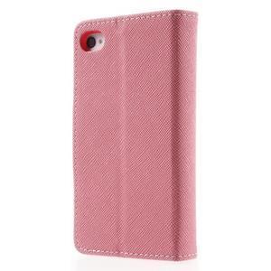 Fancys PU kožené puzdro pre iPhone 4 - ružové - 2