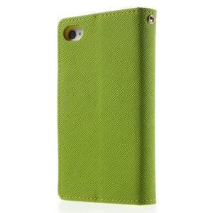 Fancys PU kožené puzdro pre iPhone 4 - zelené - 2