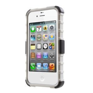 Outdoor odolný obal pre mobil iPhone 4 - biele - 2