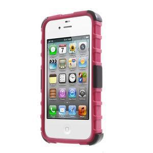 Outdoor odolný obal na mobil iPhone 4 - rose - 2