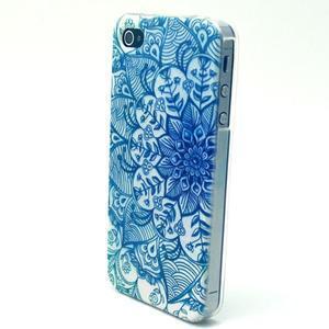 Emotive gélový obal pre mobil iPhone 4 - modrá mandala - 2