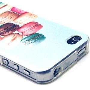 Emotive gélový obal pre mobil iPhone 4 - makrónky - 2
