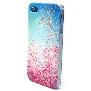 Emotive gélový obal pre mobil iPhone 4 - kvetoucí vetvičky - 2