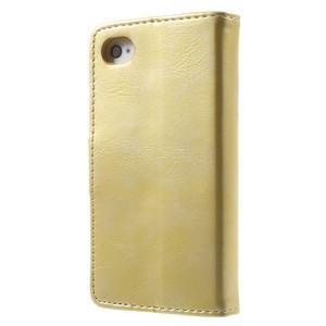 Moon PU kožené puzdro pre mobil iPhone 4 - zlaté - 2