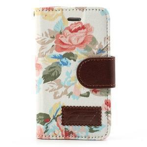 Elegantní PU kožené pouzdro na iPhone 4 - bílé pozadí - 2