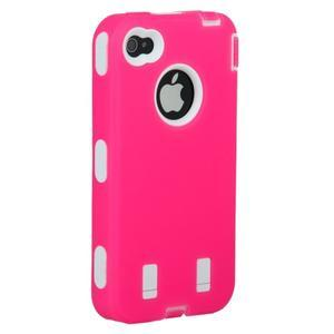 Armor vysoce odolný obal na iPhone 4 - rose - 2