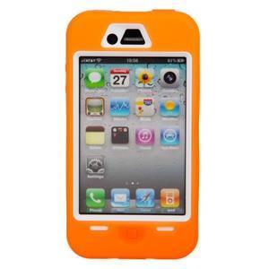 Armor vysoce odolný obal pre iPhone 4 - oranžový - 2