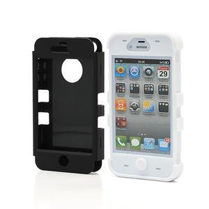 Extreme odolný kryt 3v1 na mobil iPhone 4 - biele - 2