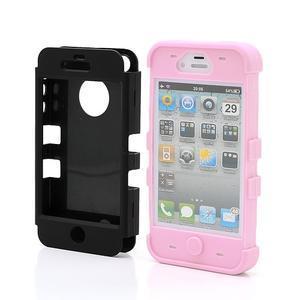 Extreme odolný kryt 3v1 na mobil iPhone 4 - růžový - 2