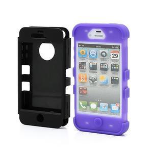 Extreme odolný kryt 3v1 na mobil iPhone 4 - fialový - 2