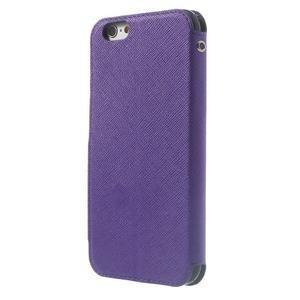 Peňaženkové puzdro s okienkom na iPhone 6 a 6s - fialové - 2