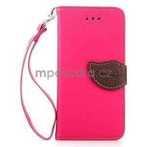 PU kožené peňaženkové puzdro pre iPhone 6s a 6 - rose - 2