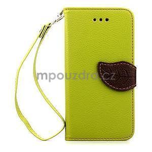 PU kožené peňaženkové puzdro pre iPhone 6s a 6 - zelene - 2