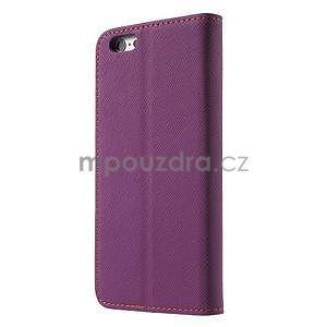 Klopové puzdro pre iPhone 6 a iPhone 6s - fialové - 2