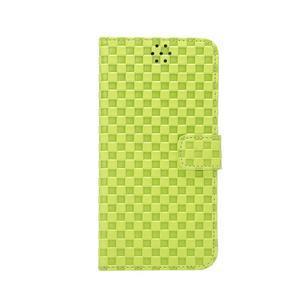 Mriežkovaného koženkové puzdro na iPhone 6 a iPhone 6s - zelené - 2