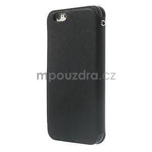 Peňaženkové puzdro s okienkom na iPhone 6 a 6s - čierne - 2
