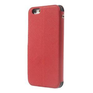 Peňaženkové puzdro s okienkom na iPhone 6 a 6s - červené - 2