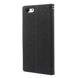 Peňaženkové puzdro pre iPhone 6 Plus a 6s Plus - čierne - 2