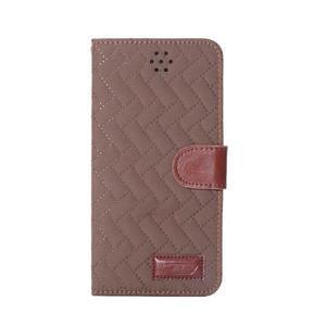 Elegantné peňaženkové púzdro pre iPhone 6 Plus a 6s Plus - hnedé - 2