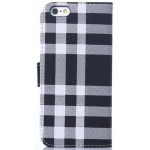 Peňaženkové puzdro Fancy na iPhone 6 Plus a 6s Plus - čiernobiele - 2